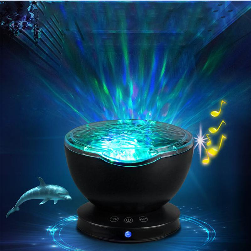 AKDSteelLED Night Light Projector Starry Sea Master Children Kids Baby Sleep Romantic Colorful Led USB Projection Lamp