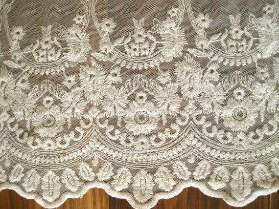 Ivory Lace Fabric, Embroidered Tulle , Vintage Gauze, Antique Bridal Lace,  Curtain Fabric, Cotton Lace In Lace From Home U0026 Garden On Aliexpress.com ...
