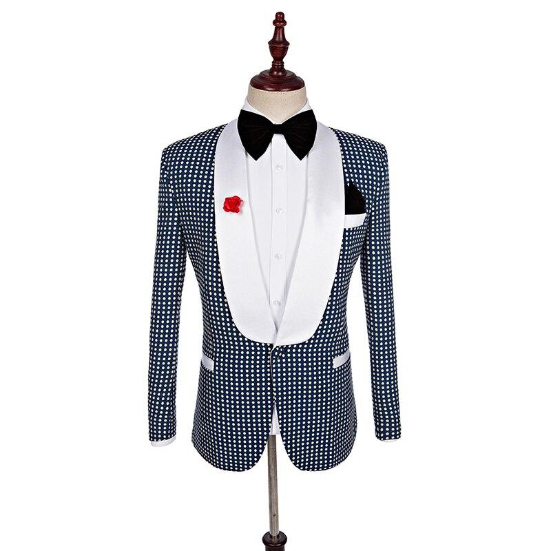 new fashion high quality mens Plaid suits casual business groom wedding dress  3-piece set