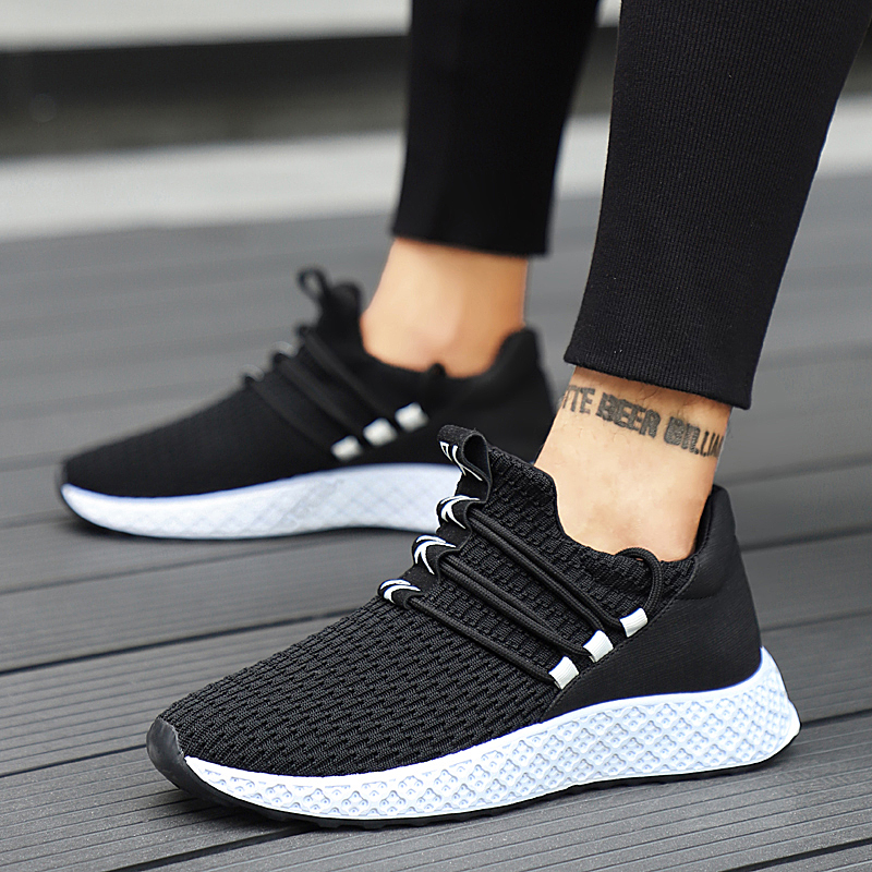 2019 New Breathable Casual Shoes For Male Fashion Sneakers Men Shoes  Lace,up High Quality Wear,resistant Men Sneakers Footwear