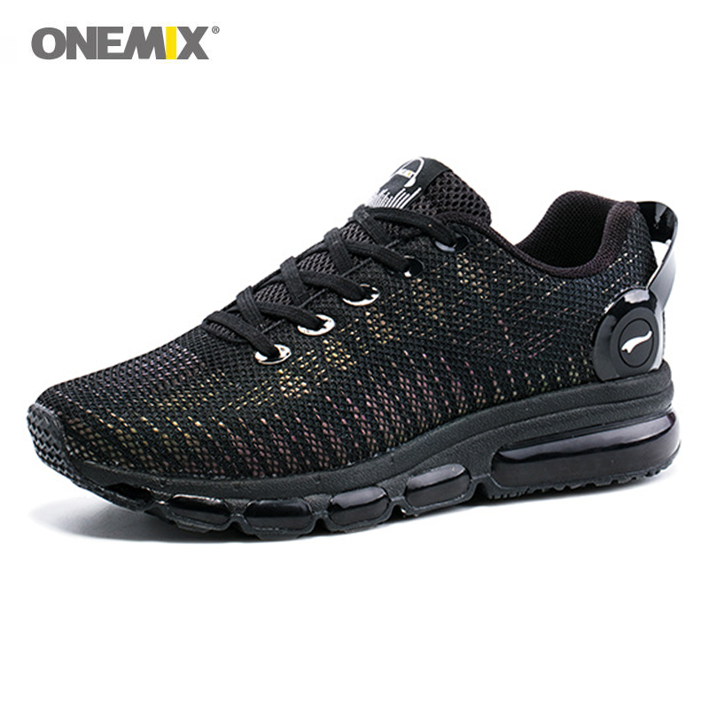 Baru 2017 air pria menjalankan sepatu sneakers ringan colorful reflektif mesh vamp Hitam Sneaker Air Cushion Athletic Trainer Man