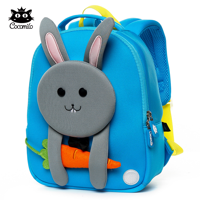 Kids Girl Boy 3D Cartoon Floral Backpack Anti Lost School