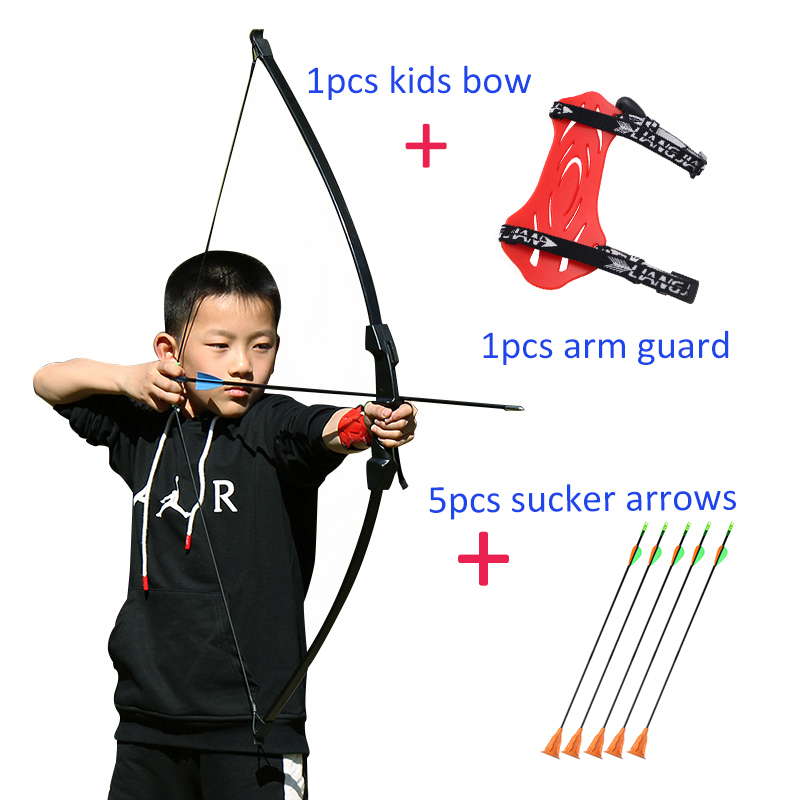 Archery Bow And Arrow For Kids Basic Takedown Bows And Sucker Arrows Safe For Youth Outdoor Gaming Sports