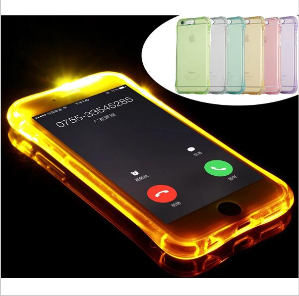 2016 Fashion New Soft TPU LED Flash Light Up Case Remind Incoming Call Cover For Samsung galaxy S7/S7edge/S6/S6Edge/S6Edge Plus