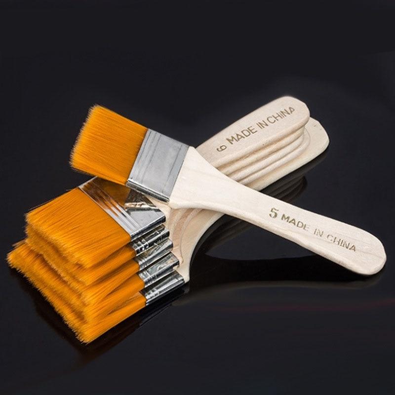 HTB1PDo4huuSBuNjy1Xcq6AYjFXat - EZONE Nylon Hair Painting Brush Oil Watercolor Water Powder Propylene Acrylic Different Size Paint Brushes School Art Supply