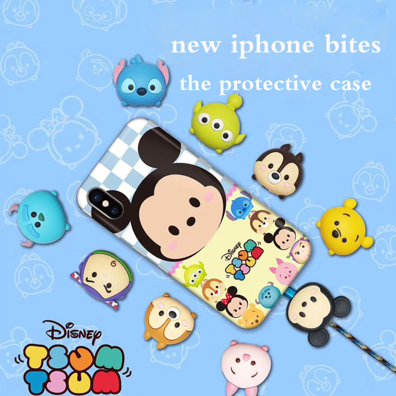 Cute Cartoon Animal Protector For IPhone USB Bite Data