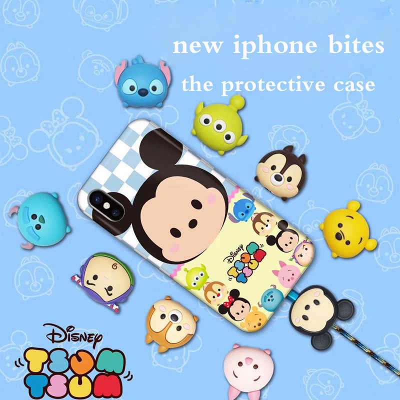 New Cute Cartoon Animal Cable Protector for iPhone USB bite Data Cable Chompers Charger Wire Winder Organizer Doll Model