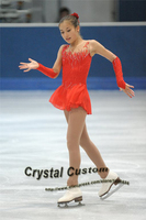 Ice Figure Skating Dress For Kids Fashion New Brand Figure Skating Dress For Competition DR3541