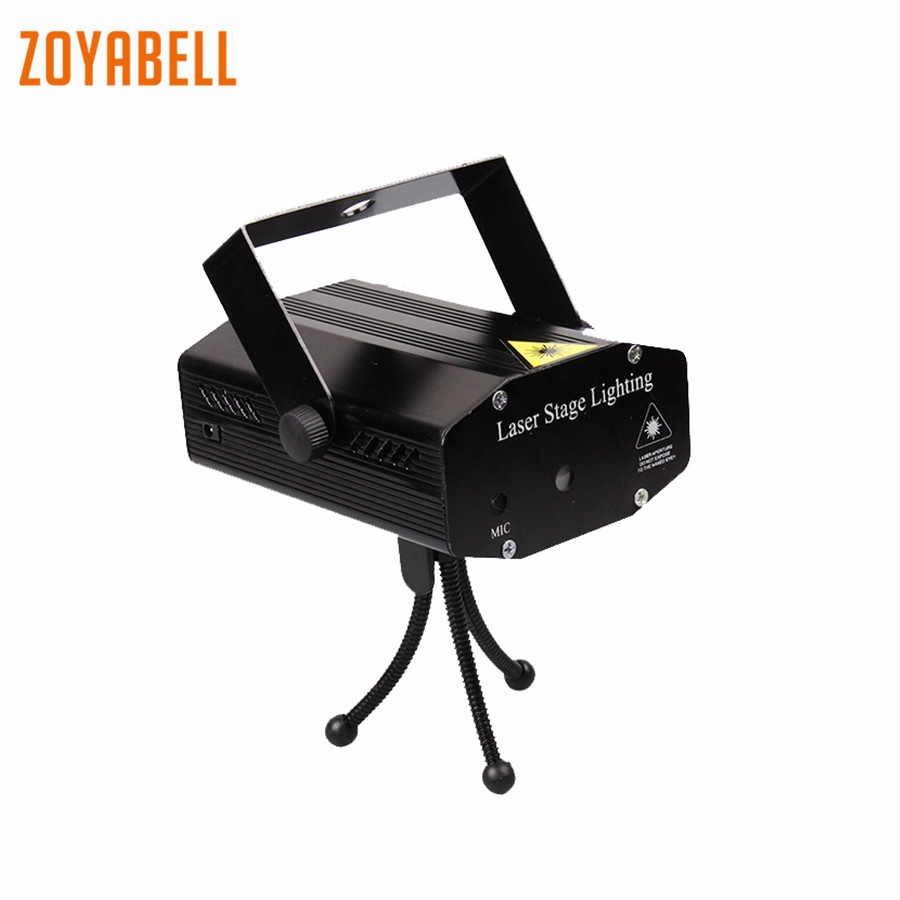 zoyabell Led Disco Stage Party Light Red Green Magic Stage Sound Control Laser Club Lamp Projector Lighting Holiday Decorations