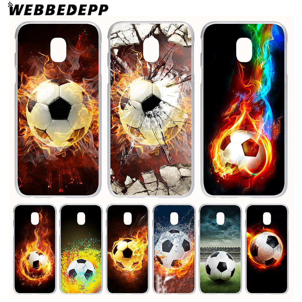 2015/2016/2017/2018 Prime Webbedepp Fire Football Soccer Ball Phone Case For Galaxy J1 J2 J3 J5 J6 J7 Eu Us Version Cover With The Most Up-To-Date Equipment And Techniques