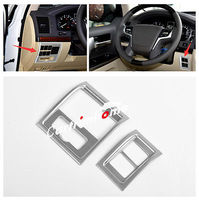 2* Interior Middle Console Button Cover Trim for Toyota Land Cruiser LC200 2016