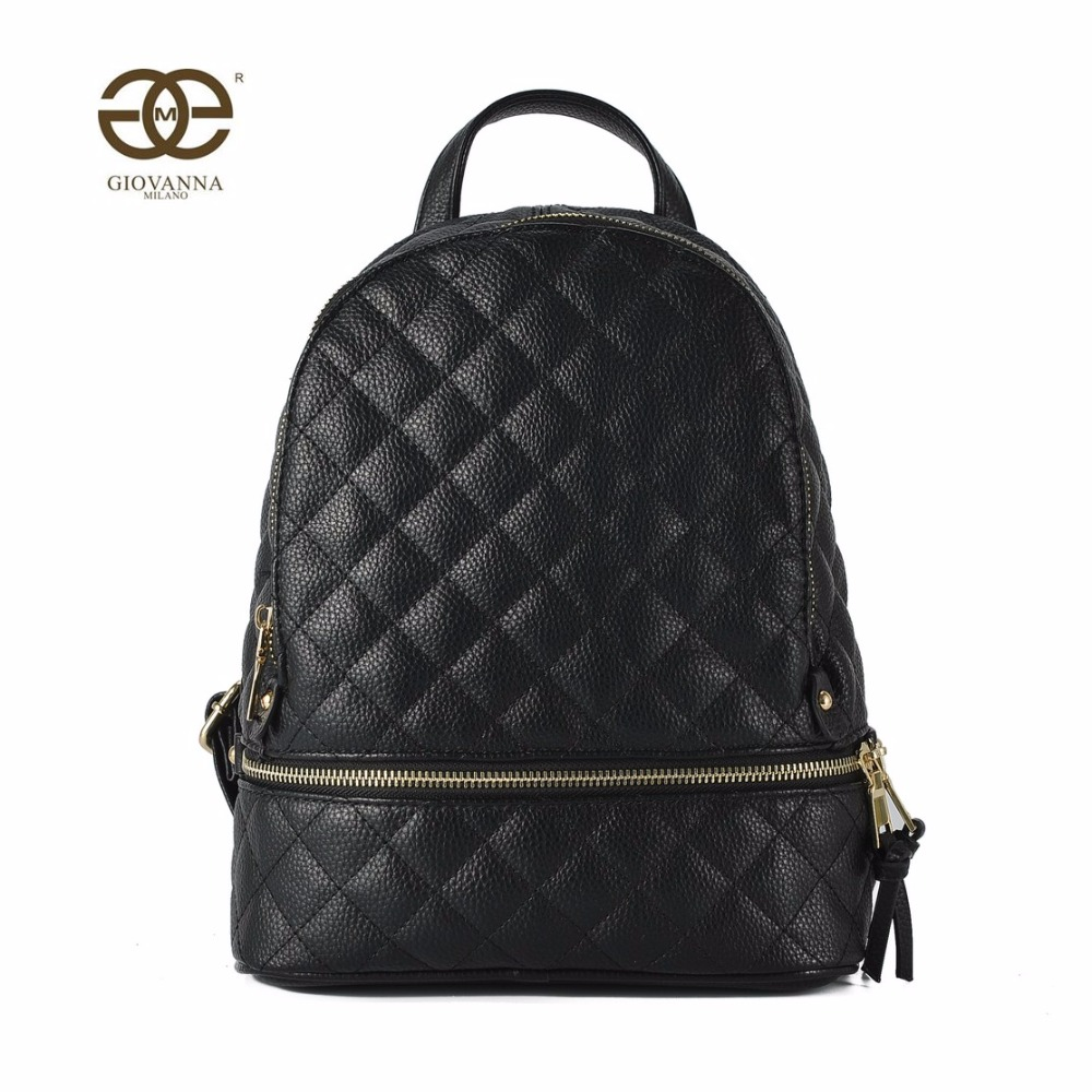 Best buy Women backpack solid PU leather with criss cross diamond lattice  pattern zipper decoration famous luxury brand design R7855 online cheap 16d4ccca38d60