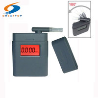 Prefessional Breath Alcohol Tester LCD Digital Breathalyzer With 5pcs Rotating Mouthpiece Alcohol Detector Alcotester