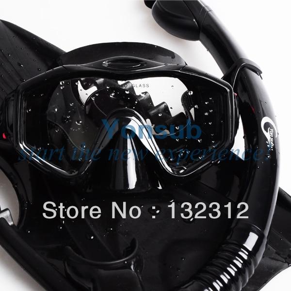 Yonsub Professional Scuba Diving Equipment with Mask snorkel Adjustable Fins Set Adult Snorkeling Gear water pro liquid force mask scuba diving snorkeling