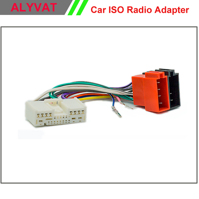 Car ISO Radio Adapter Connector For Mazda 2001 Onwards Wiring ...