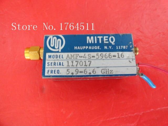 [BELLA] MITEQ AMF-4S-5966-16 5.9-6.6GHz 15V SMA Supply Amplifier
