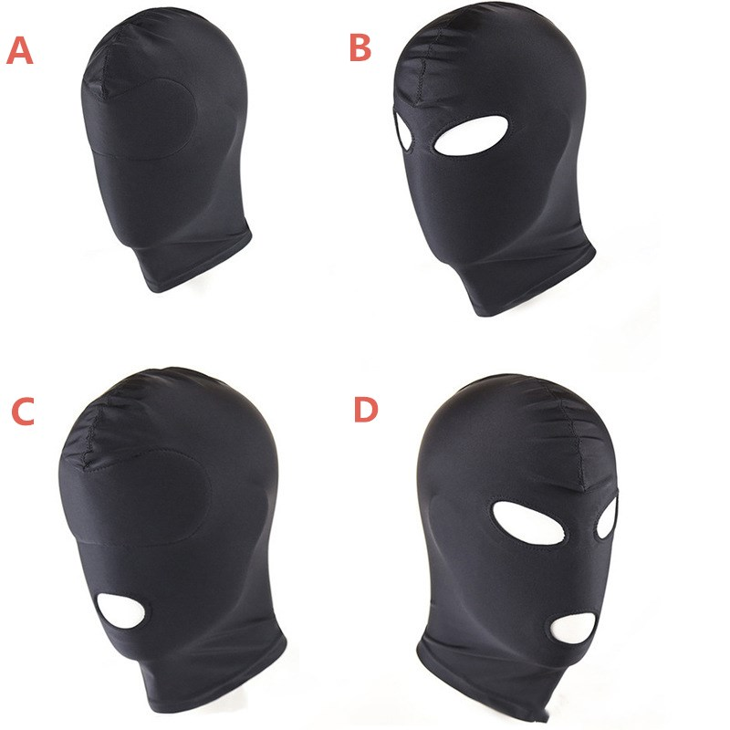 Couple Cosplay Eye Mask Sexs Toys Product BDSM Bondage Fetish Mask Hood Open Mouth Eye Bondage Party Headgear Adult Slave Games