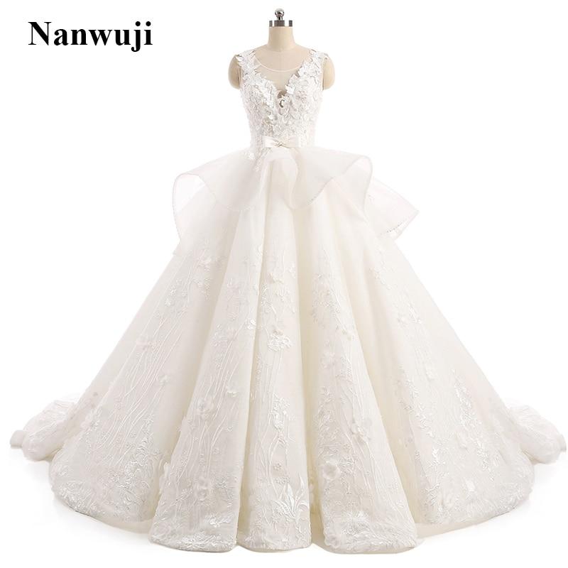 vestido de noiva Real Photos շքեղ Հարսանեկան զգեստ With Appliques robe de mariage պատվերով պատրաստված Vintage հարսանյաց զգեստ