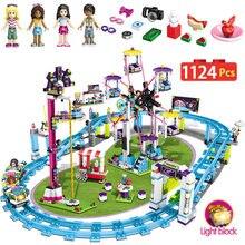 1124 шт кубики для девочек Совместимость с legoingly друзья 41130 развлечений парк аттракционов американские горки Рисунок модель здания игрушки хобби детей