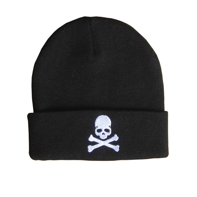 Europe and The United States Style Men and Women's Skull Bone Embroidery Beanies Knitted Wool Hat Hip Hop Cat RX154 аккумулятор gopro battery bacpac для экшн камер gopro hero3 3 4 [abpak 401]