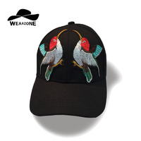 WEARZONE Brand Bird Embroidery Dad Cap Hat Man Flower Summer Embroidery Cotton Dad Caps Women Girls