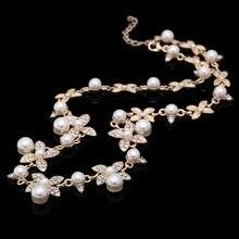 Gargantilhas vintage colares feminino simulado-pérola banhado a ouro corrente gargantilha colar bijoux femme afirmação colar de casamento