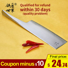 Cleaver slicing knife handmade forged stainless steel kitchen knives vegetable fruit meat bread ножи