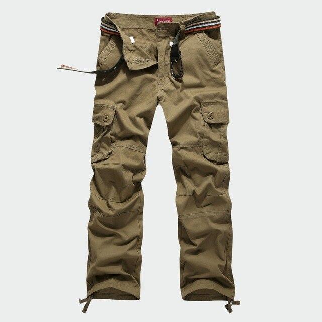Большой размер 30-44 мужские фирменные брюки мужчины брюки летние модные мужские брюки-карго 4 цвета Новый 2017