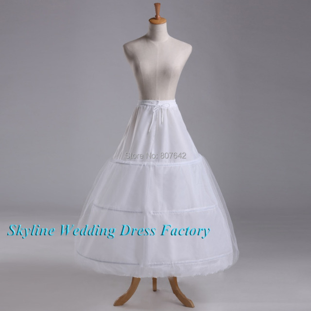 Free shipping Hot sale 50% off 3 HOOP Ball Gown BONE FULL CRINOLINE PETTICOAT WEDDING SKIRT SLIP NEW