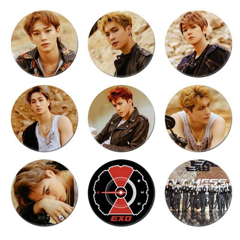 Korean KPOP EXO Album DON'T MESS UP MY TEMPO Brooch Pin Badge Accessories For Clothes Hat Backpack Decoration