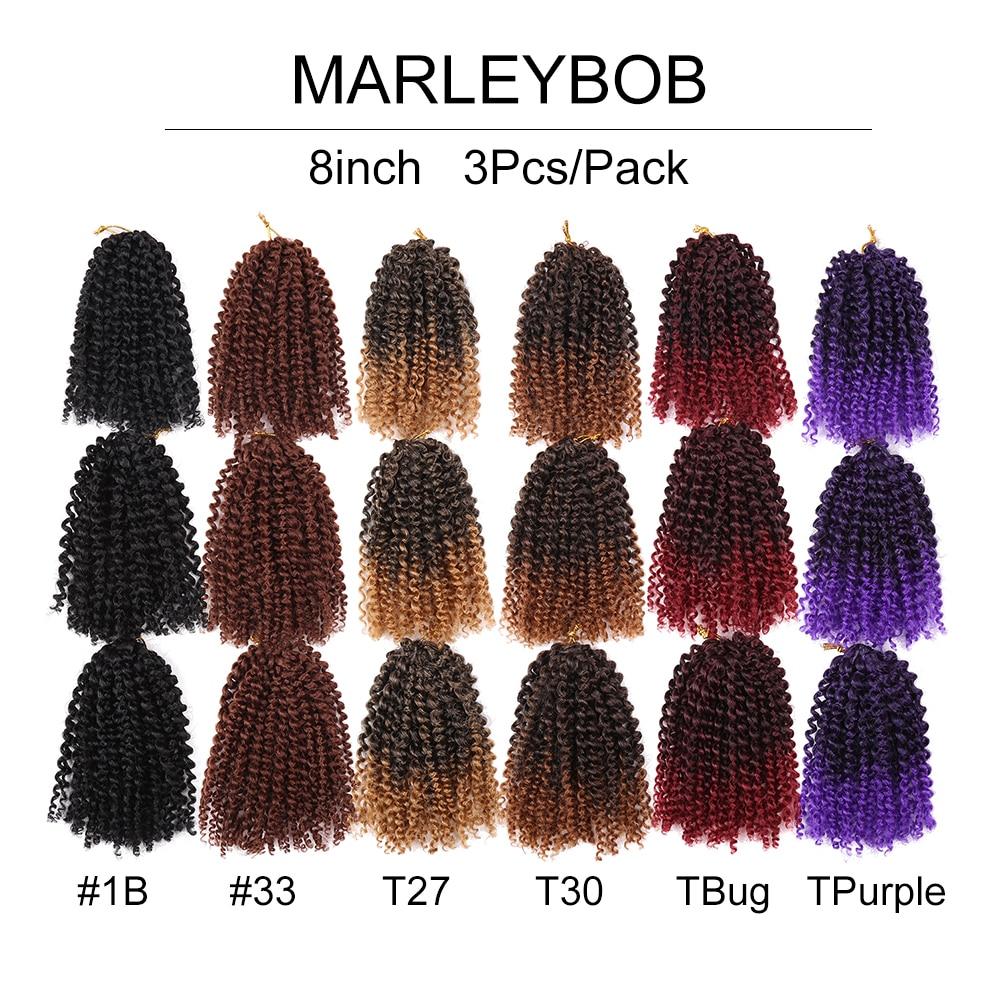 Golden Beauty 8inch Kinky Curly Syntetisk Braiding - Syntetiskt hår - Foto 6