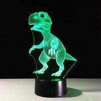 Lámpara de Escritorio Mesa de Dinosaurio Animal de la historieta Niños Niños Dormitorio Decoración Luz de La Noche de Dormir GX0036