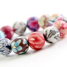 Colorful Fashion Jewelry Polymer Clay Bracelets Round Beaded Stretch Bracelet Bohemian Beads Hand Chain For Women Girls
