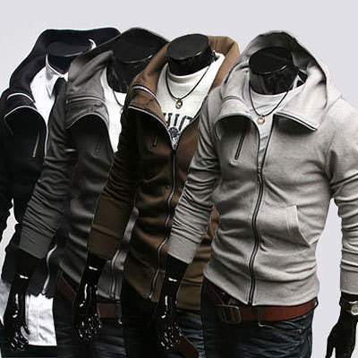 Free shipping Stylish mens casual cotton hooded coat winter clothing men's coats hoody jackets men casual wear S M L XL XXL C014