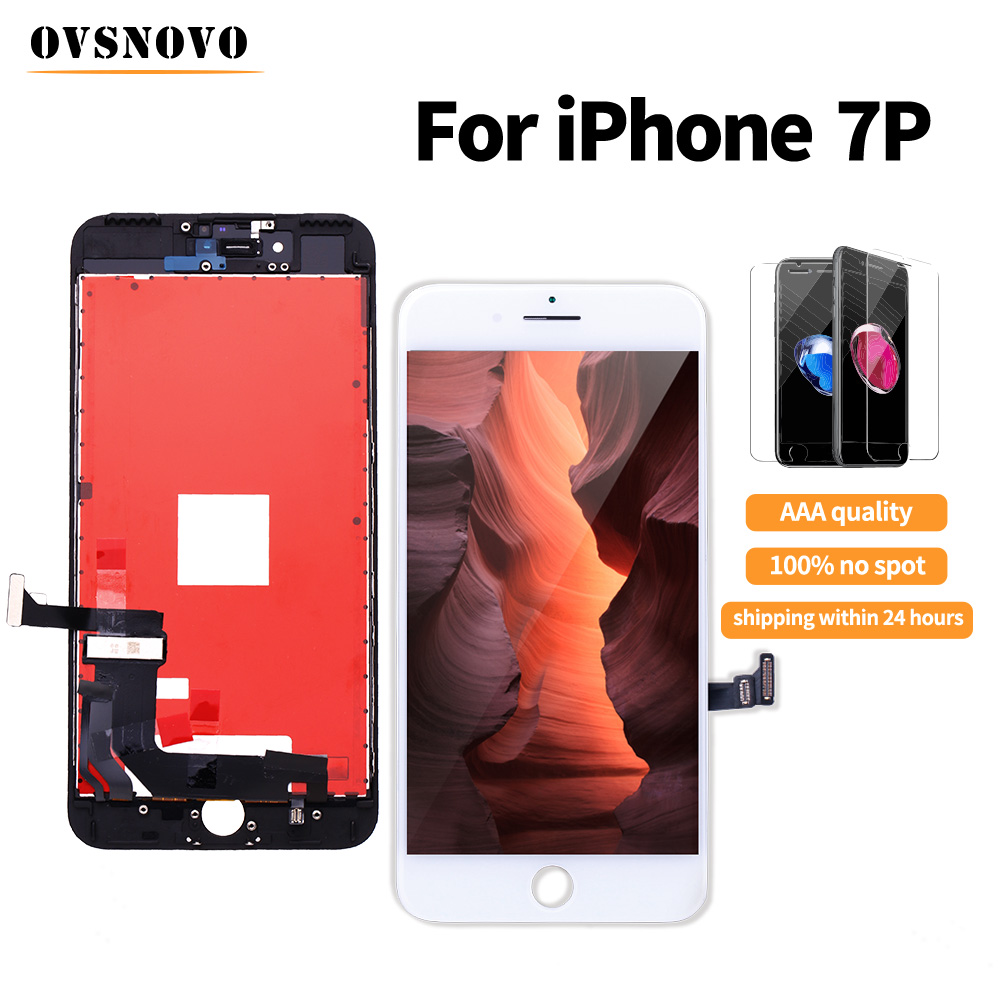 AAA+++ LCD For iPhone 7 plus Display For iPhone 6s Touch Screen Replacement Digitizer Assembly with Tempered film No Dead Pixel image