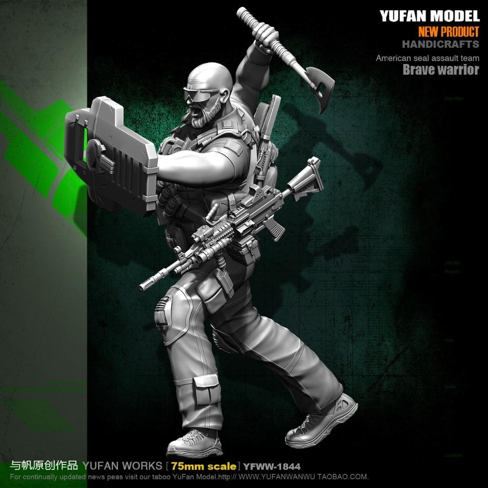 1/24, 75mm resin figures model kits American axe soldiers  75Y18441/24, 75mm resin figures model kits American axe soldiers  75Y1844