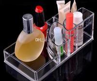 Прозрачный акриловый шкатулка косметический организатор Макияж дома магазин Дисплей случае