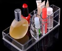 Clear Acrylic Jewelry Box Cosmetic Organizer Makeup Home Store Display Case