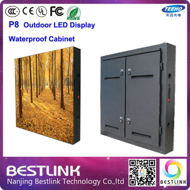 Led Outdoor Cabinet 768 768mm With Full Color Screen 4 Scan P8 Dip