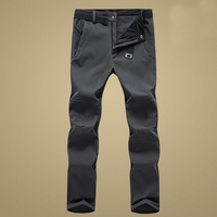 MAZEROUT Men Fishing Waterproof Winter Skiing Plus Size Outdoor Hiking Softshell Pants Camping Climbing Trekking Trouser