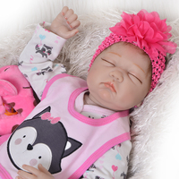 Real Baby reborn dolls 55cm bebe silicone reborn dolls newborn girl toddler doll for children gift babies toys