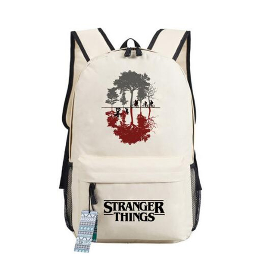 Stranger Things American Tv Series Cosplay Backpack Students Teenager Bag Anime Oxford Schoolbags Unisex Travel Laptop Bag Gift