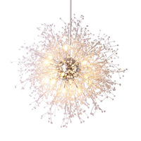 Modern Crystal Chandeliers Lighting Acrylic Crystal Hanging Light Contemporary Retro Orb Chandelier Light Home Hotel Decor