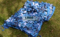 5M*10M filet Camo Netting blue camouflage netting sun shelter served as theme party decoration beach shelter car covers camping