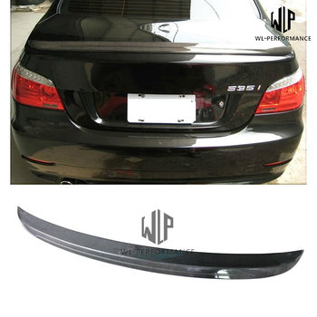 E60 M5 Carbon Fiber Rear Spoiler Car Styling Wings For BMW 5 Series E60 M5 Style 520i 525i 530i 535i Car Body Kit 2003-2009 image