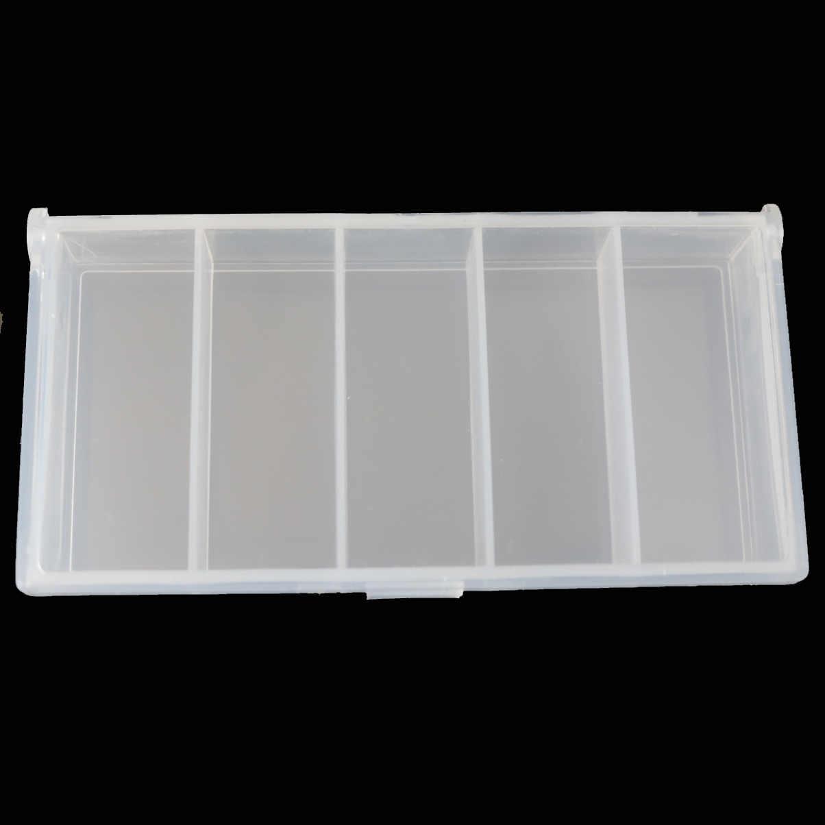 LUSHAZER 5 Ngăn Câu Hộp Nhựa Chống Thấm Nước thiết bị Dụ Cá hộp câu cá Mồi Câu cá Giả Thìa Móc