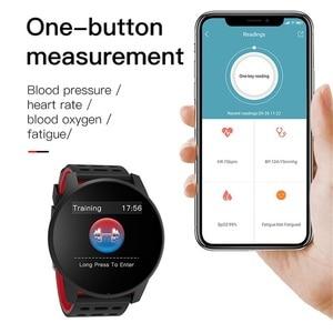 Image 4 - ساعة ذكية الرجال الرياضة مقاوم للماء النشاط جهاز تعقب للياقة البدنية النساء ضغط الدم مراقب معدل ضربات القلب Smartwatch أندرويد ios