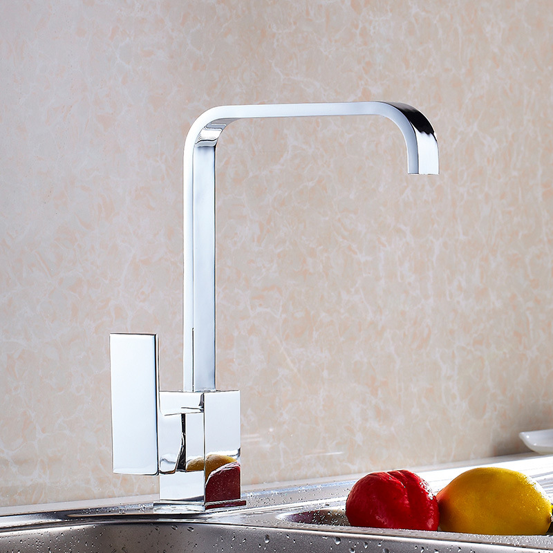 LOMAZOO Rotatable Bathroom Sink Faucet Waterfall Faucet Single Handle Brass Bathroom Faucet Kitchen Faucet Basin Sink