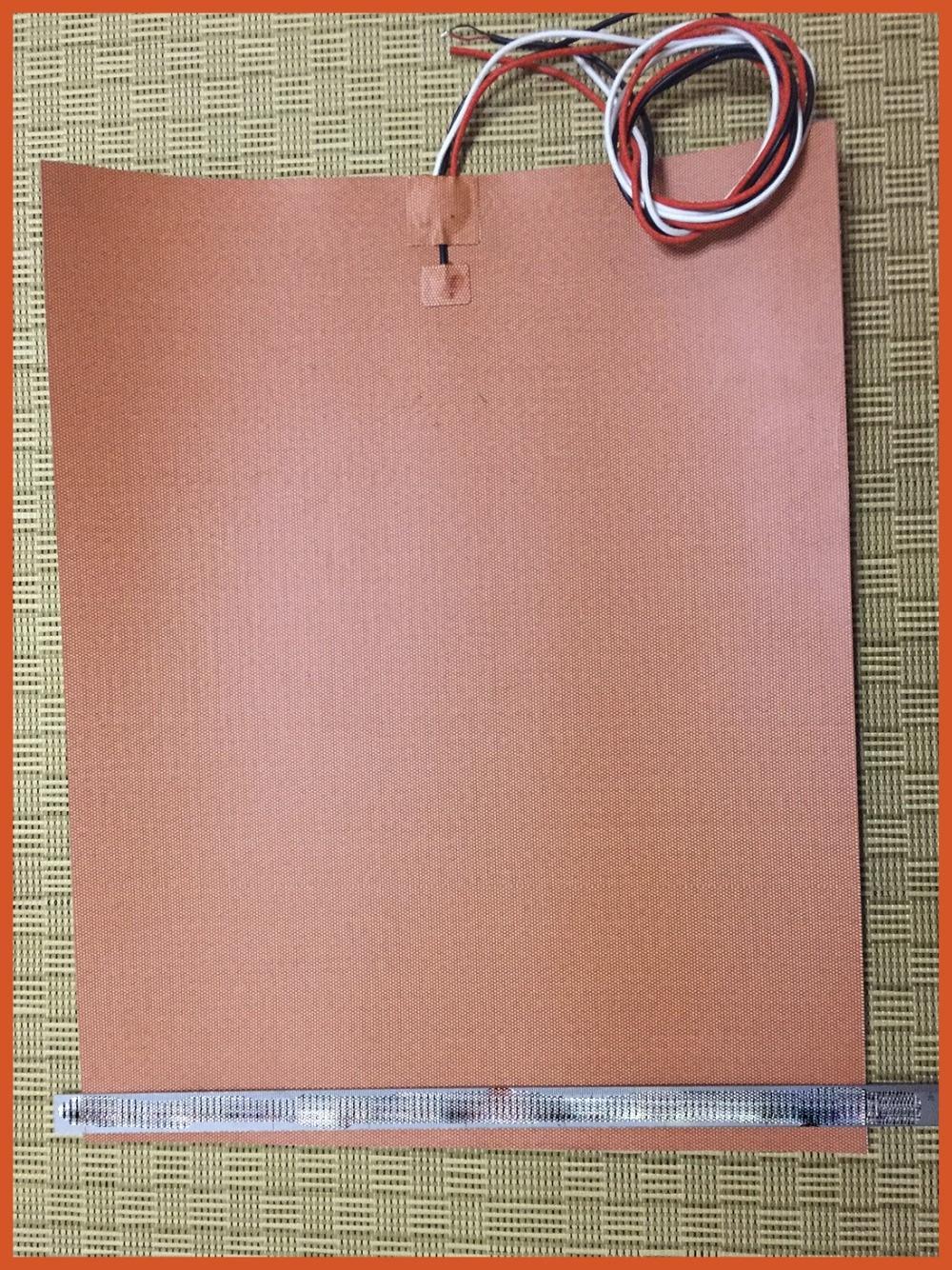 Gomma silicone riscaldatore per stampante 3d 110v 1500w 300*500MM 3m adhesive built-in termistore 100K element heater electric silicone pad riscaldatore 220 v 800 w dia 500mm con 3m adesivo abd 100k termistore oil silicone heater film heat electric heater