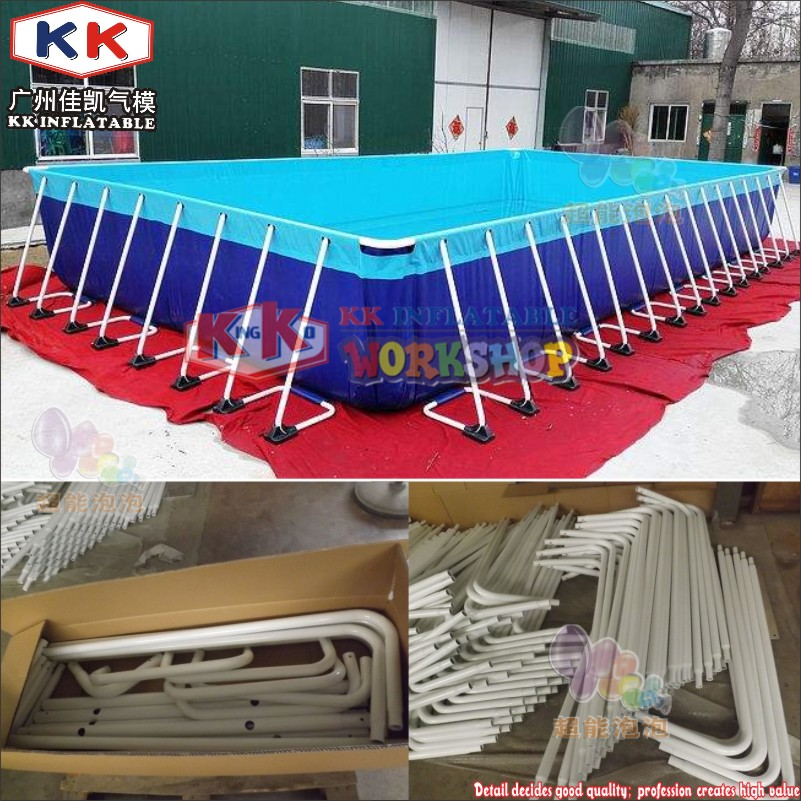 KK Backyard Above Ground Swimming Pool, Metal Frame Pool With Ladders